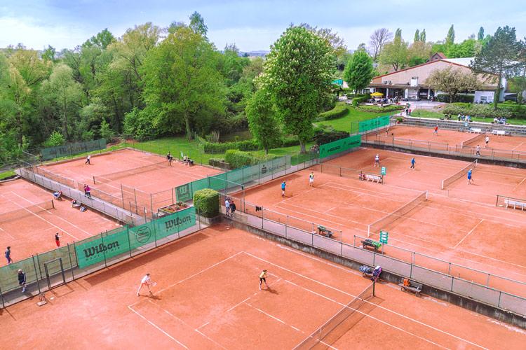 Tennisclub Blau-Weiß Lemgo   Luftaufnahme